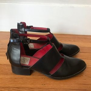 Jeffrey Campbell black ankle shoe